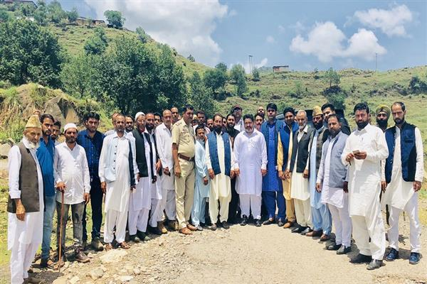 NC delegation visits house of Aurangzed in Mendhar