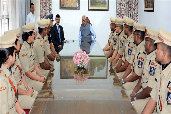 Governor meets IPS Probationers