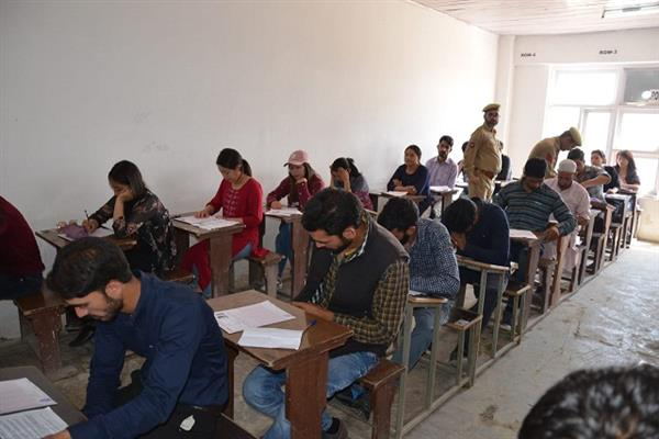 Written test for the post of Sub-Inspector in J&K Police conducted