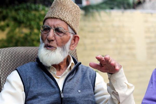 Geelani appeals people to celebrate Eid with austerity