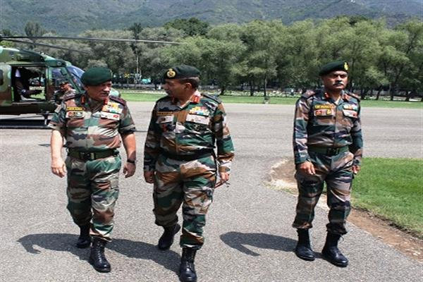Chief of army staff visits valley