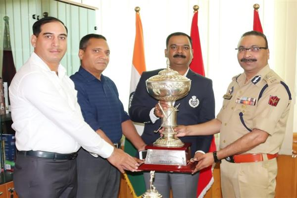 DGP felicitates Police Golf team for winning All India Police Golf Tournament