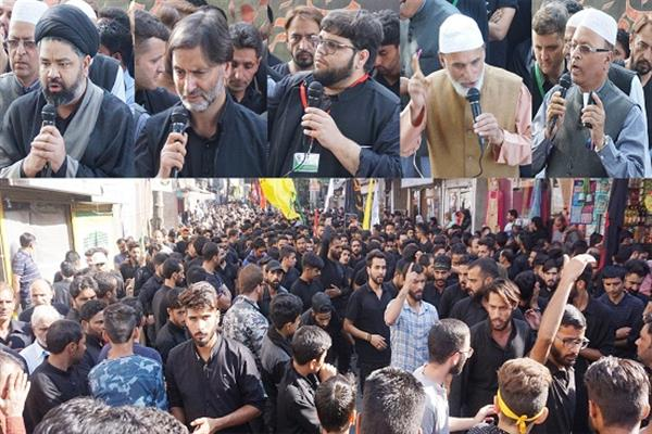 Muharram processions taken out in Gawkadal, other areas of Kashmir