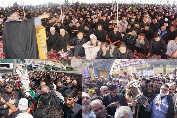 Aga Syed Hasan leads Ashoora procession in Budgam