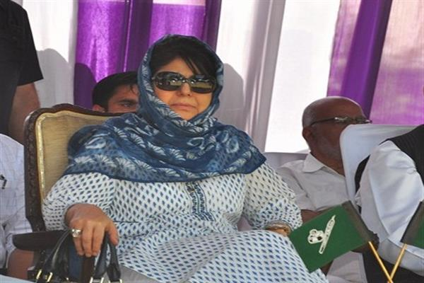 Mehbooba seeks central Govt's intervention for withdrawal of cases against AMU students
