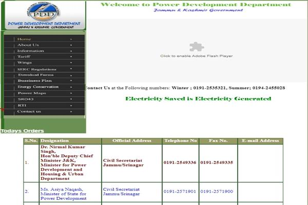 PDD website shows Nirmal Singh still minister incharge power, Asiya Naqash MoS incharge power