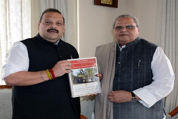 Rana meets Governor, seeks revival of heritage route to Mata Vaishno Devi