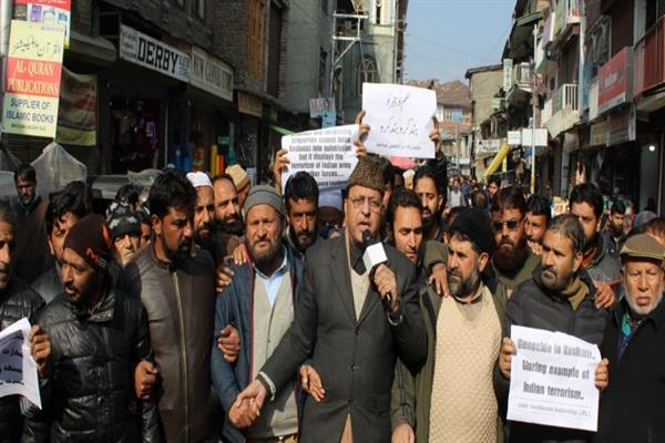 On JRL's call, JKLF stage protests