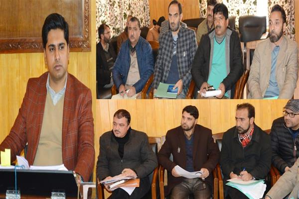 DDC Shopian reviews status of languishing projects