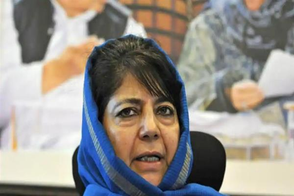 Mehbooba grieved over demise of PDP's Magam Block President