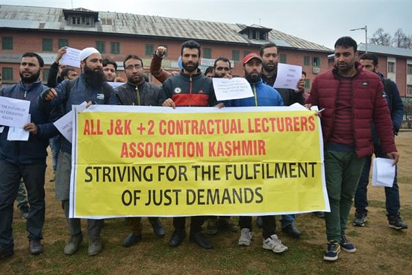 Plus two contractual lecturers protest over demand for regularisation