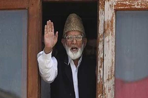 Geelani disallowed to lead protest rally to Badami Bagh: Hurriyat (G)
