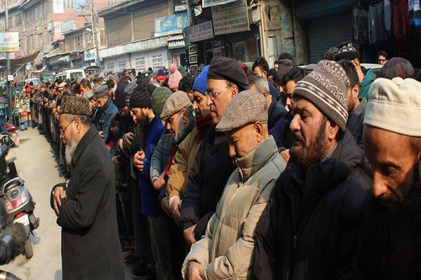 On JRL's call, JKLF offers funeral prayers in absentia for Pulwama slain
