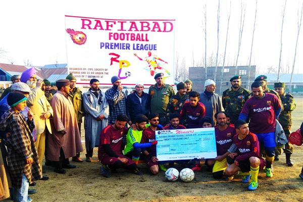 Rafiabad football tournament concludes
