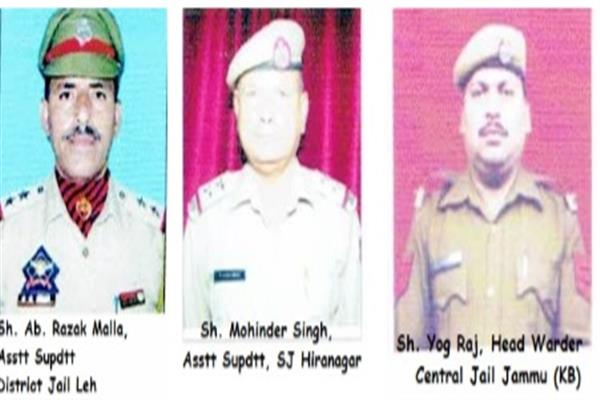 3 Prison Personnel conferred President's Medal for Meritorious Service