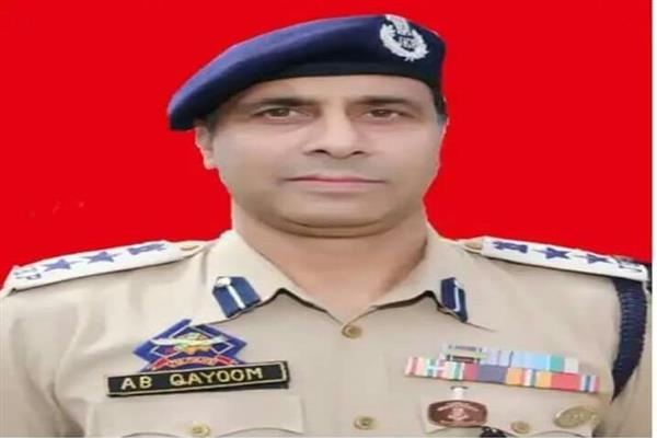 Abdul Qayoom assumes charge of SSP Baramulla