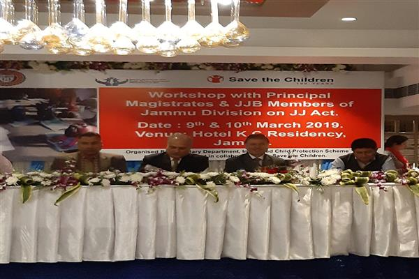Justice Masoodi inaugurates two day workshop for juvenile justice boards of Jammu division
