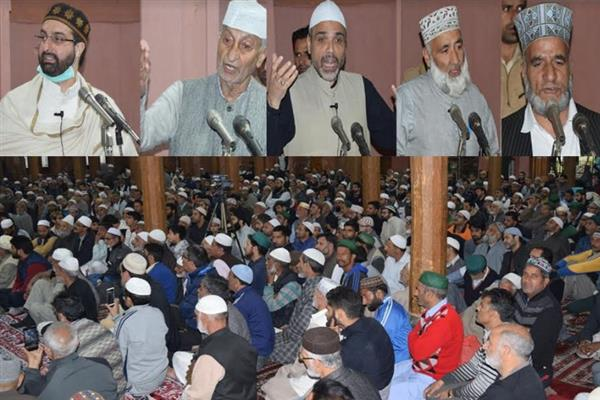 Moulvi Yousuf Shah (RA) put in all-out efforts to highlight Kashmir issue globally: Mirwaiz
