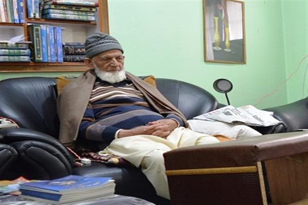 Hurriyat (G) denounces rumors about health of Geelani