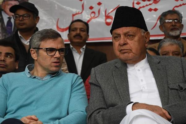 Dr Farooq, Omar greet people on Urs Observance of Hazrat Shah Asrar Ud Din Wali (RA)