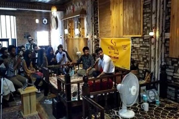 Cofee and Qalaam holds writers' session in Sopore