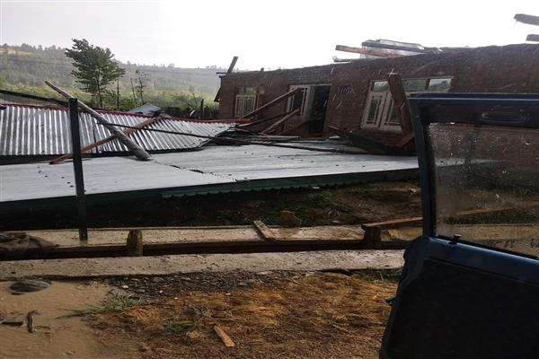 Heavy rains, windstorm wreak havoc in parts of north Kashmir