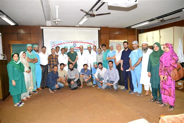 'National Anaesthesia & Operation Theatre Technologists Day' celebrated in SKIMS