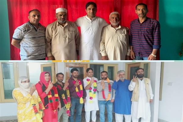 Former NC, PDP Halqa President's from Sonwar, Corporators from Khansahib join Peoples Conference