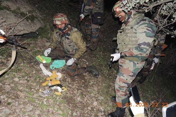 Arms, ammunition recovered in Tweetwal sector , Kupwara