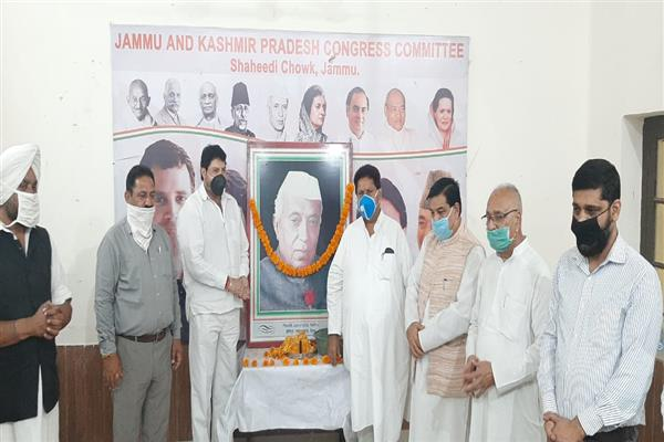 56th death anniversary of first prime minister Pt Nehru observed at PCC Headquaters