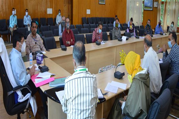 DC Budgam convenes meeting with all Nodal officers for COVID-19  Pandemic