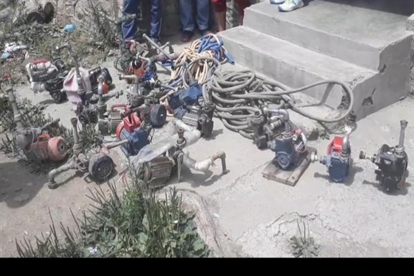 Several  illegal  water  motors  seized  in Pattan by Jal ...