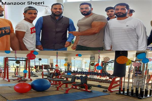 Mr Kashmir inaugurates 'The Fitness Hub' at Sheeri Baramulla