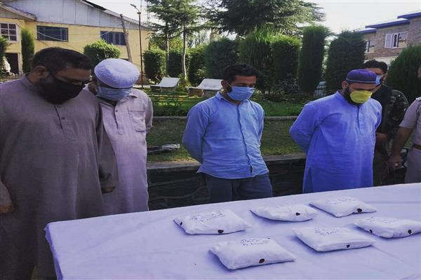 Police recovers cocaine  worth  crores  in Baramulla, 4 arrested