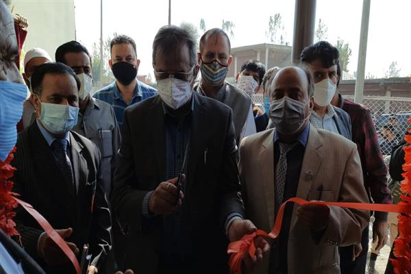 Advisor to LG Baseer khan visits Sopore, inaugurates power receiving station