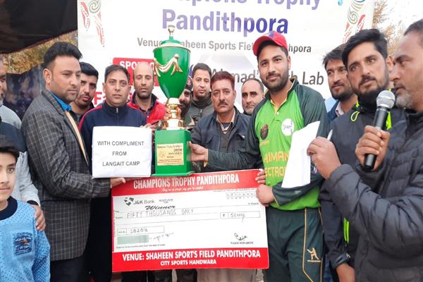 Champions Trophy Panditpora: Super-Over Victory for City Boys Kupwara