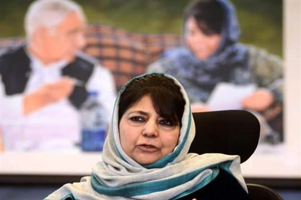 Barring people from peaceful means of dissent' BJPs nervousness, failure: Mehbooba Mufti